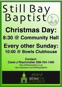Church Poster - Dec 2014