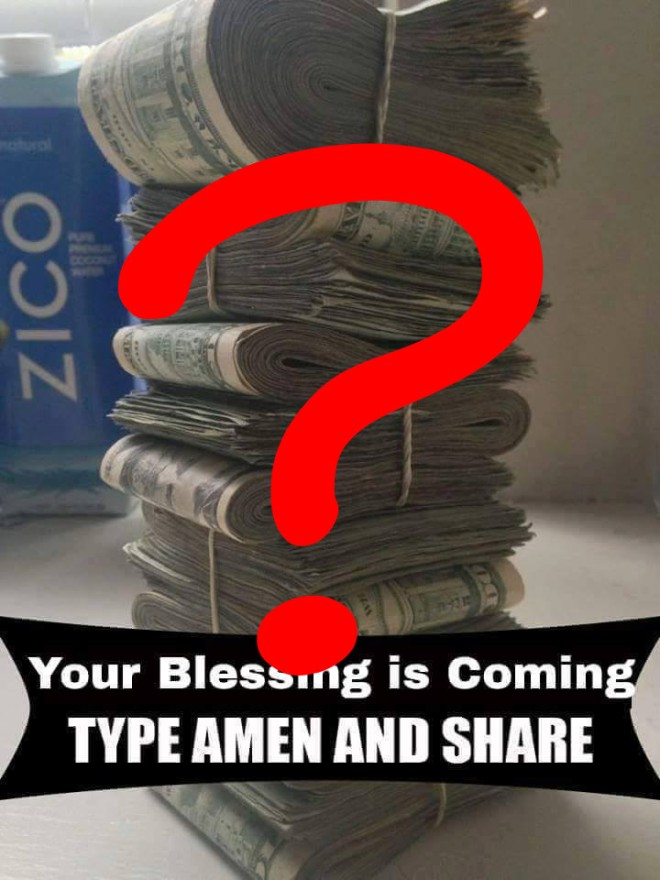 your blessing is coming - question mark